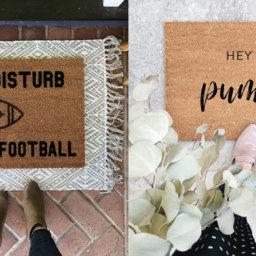 We've Fallen for these Fall Doormats | Cartageous.com/Blog